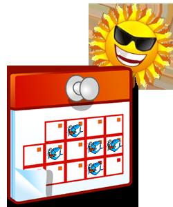 60 tournois de Sandball dans le calendrier «Sandballez en 2012»