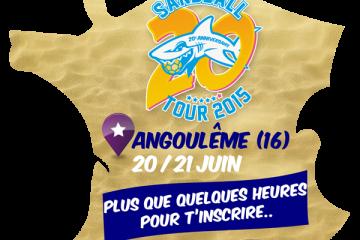 Plus que quelques heures pour vous inscrire et fêter les 20 ans du Sandball à Angoulême