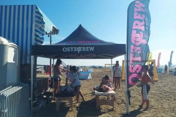 Les ostéopathes de l'OSTEOcrew présents pour le Sandball Tour 2015 à Port-Saint-Louis